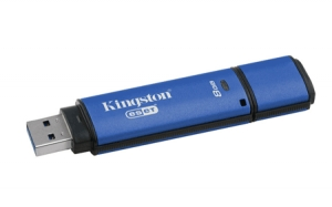 Kingston DTVP30AV/8GB, 8GB USB 3.0 DTVP30AV, 256bit AES Encrypted + ESET AV FIPS 197