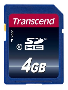 Transcend TS4GSDHC10 SDHC 4GB Class 10
