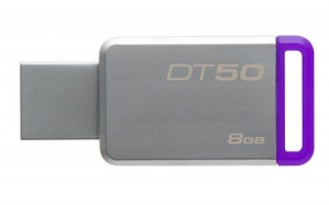 Kingston DT50/8GB, 8GB USB 3.0 DataTraveler 50 (Metal/Purple)