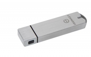 Kingston IKS1000B/16GB, 16GB IronKey Basic S1000 Encrypted USB 3.0 FIPS 140-2...