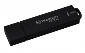 Kingston IKD300/8GB, 8GB IronKey D300 Encrypted USB 3.0 FIPS Level 3