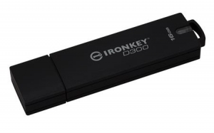 Kingston IKD300/16GB, 16GB IronKey D300 Encrypted USB 3.0 FIPS Level 3
