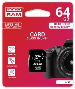 GoodRam S1A0-0640R11, 64GB CARD cl 10 UHS I