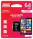 M1AA-0640R11, 64GB MICRO CARD cl 10 UHS I + adapter
