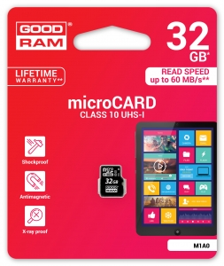 GoodRam M1A0-0320R11, 32GB MICRO CARD class 10 UHS I GOODRAM