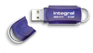 Integral INFD8GBCOUAT, 8GB Courier USB 2.0 Flash Drive - AES encryption