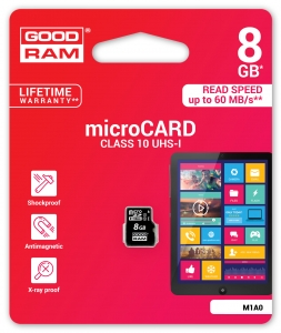 GoodRam M1A0-0080R11, 8GB MICRO CARD class 10 UHS I GOODRAM