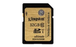 KingstonSDA10/32GB SDHC 32GB Class 10