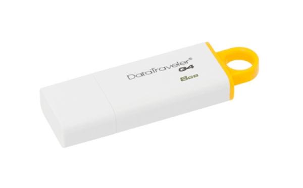 DTIG4/8GB, 8GB USB 3.0 DataTraveler I G4 (White + Yellow)