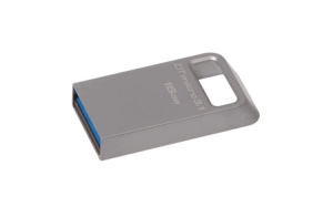 KingstonDTMC3/16GB, 16GB DTMicro USB 3.1/3.0 Type-A metal ultra-compact drive