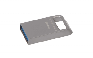 Kingston DTMC3/64GB, 64GB DTMicro USB 3.1/3.0 Type-A metal ultra-compact drive