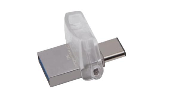 DTDUO3C/64GB, 64GB DT microDuo 3C, USB 3.0/3.1 + Type-C flash drive