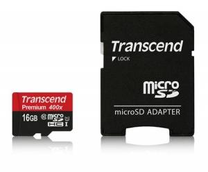 TranscendTS16GUSDU1 MicroSDHC 16GB Class10
