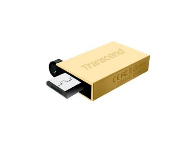 TS16GJF380G, 16GB JetFlash 380, Gold Plating, OTG