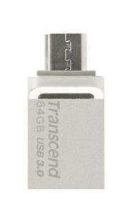 TranscendTS64GJF880S, 64GB JetFlash 880, Silver Plating, OTG