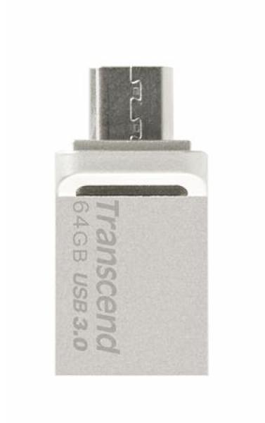 TS64GJF880S, 64GB JetFlash 880, Silver Plating, OTG
