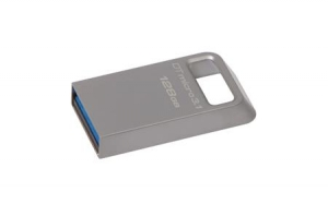 Kingston DTMC3/128GB, 128GB DTMicro USB 3.1/3.0 Type-A metal ultra-compact drive