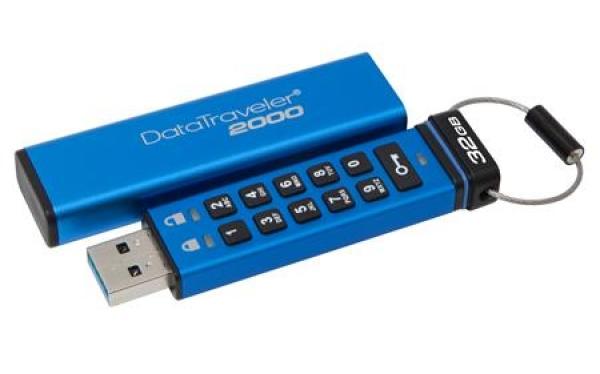 DT2000/32GB, 32GB Keypad USB 3.0 DT2000, 256bit AES Hardware Encrypted