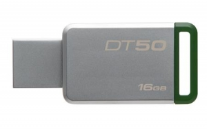 KingstonDT50/16GB, 16GB USB 3.0 DataTraveler 50 (Metal/Green)