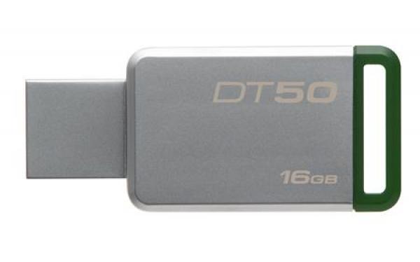 DT50/16GB, 16GB USB 3.0 DataTraveler 50 (Metal/Green)