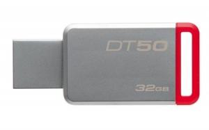 KingstonDT50/32GB, 32GB USB 3.0 DataTraveler 50 (Metal/Red)