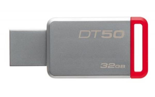 DT50/32GB, 32GB USB 3.0 DataTraveler 50 (Metal/Red)