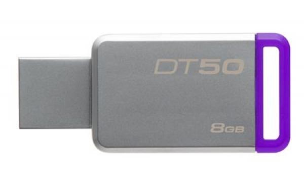 DT50/8GB, 8GB USB 3.0 DataTraveler 50 (Metal/Purple)