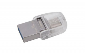 Kingston DTDUO3C/128GB, 128GB DT microDuo 3C, USB 3.0/3.1 + Type-C flash drive