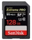 128GB SDXC Card Sandisk Extreme Pro Read/95MB/s Write 90MB/s V30 UHS-I U3 SDSDXXG-128G-GN4IN