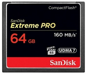 Sandisk 64GB CompactFlash Sandisk Extreme Pro 160MB/s SDCFXPS-064G-X46