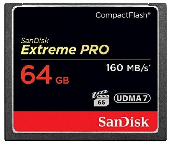 64GB CompactFlash Sandisk Extreme Pro 160MB/s SDCFXPS064GX46