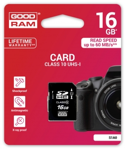 GoodRam S1A0-0160R11, 16GB CARD cl 10 UHS I