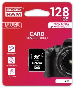 GoodRamS1A0-1280R11, 128GB CARD cl 10 UHS I
