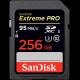 256GB SDXC Card Sandisk Extreme Pro 95MB/s V30 UHS-I U3 SDSDXXG-256G-GN4IN