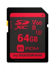 GoodRamIR-S6B0-0640R11, 64GB SD CARD IRDM MLC UHS II U3 V60