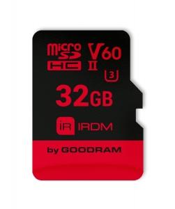GoodRamIR-M6BA-0320R11, 32GB MICRO SD CARD IRDM pSLC UHS II U3 V60