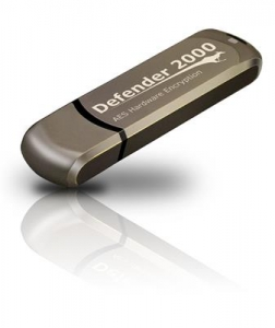 Kanguru 8GB Defender 2000 Encrypted USB 2.0 Zwart