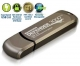 128GB Defender 3000 Encrypted USB 3.0 Flash Drive, FIPS 140-2 Level 3, Metal
