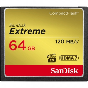 Sandisk 64GB CompactFlash Sandisk Extreme 120MB/s read 85MB/s write...