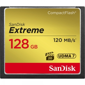 Sandisk 128GB CompactFlash Sandisk Extreme 120MB/s read 85MB/s write...
