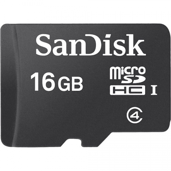16GB MicroSDHC Card Sandisk w/o Adapter SDSDQM016GB35