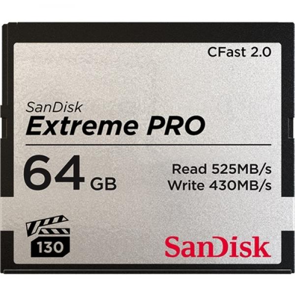 64GB CFast 2.0 Sandisk Extreme Pro 525MB/s SDCFSP-064G-G46D