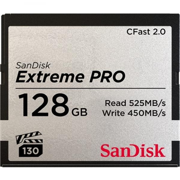 128GB CFast 2.0 Sandisk Extreme Pro 525MB/s SDCFSP-128G-G46D
