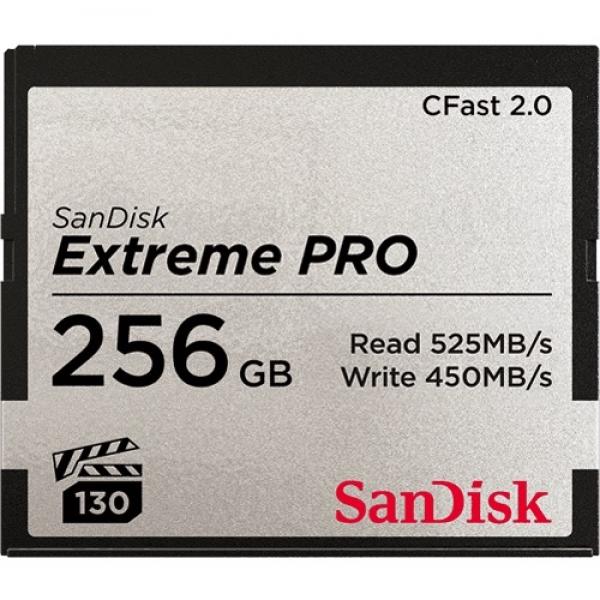 256GB CFast 2.0 Sandisk Extreme Pro 525MB/s SDCFSP-256G-G46D