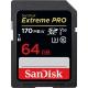 64GB SDXC Card Sandisk Extreme Pro 170/90 V30 UHS-I U3 SDSDXXY-064G-GN4IN