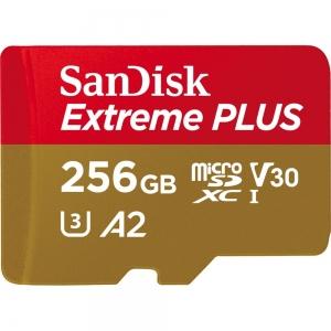 Sandisk256GB MicroSDXC Sandisk Extreme Plus R170/W90 C10 U3 V30 A2...