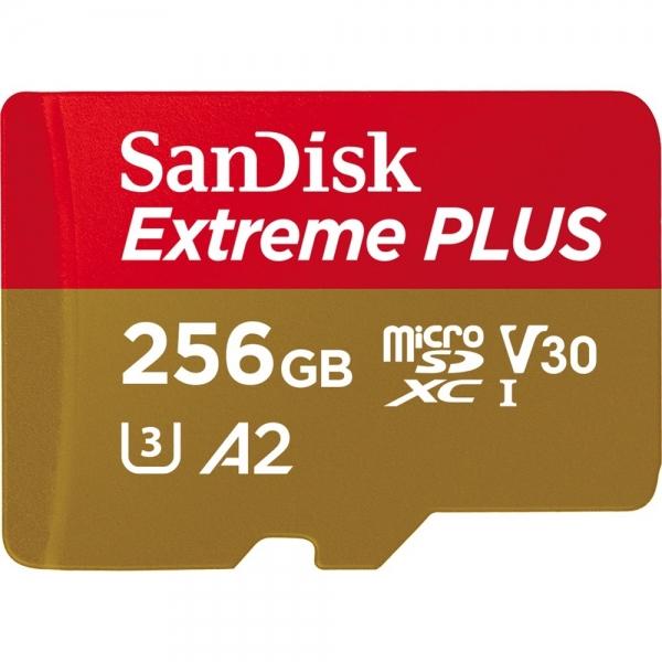 256GB MicroSDXC Sandisk Extreme Plus R170/W90 C10 U3 V30 A2 SDSQXBZ-256G-GN6MA