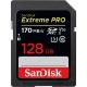 128GB SDXC Card Sandisk Extreme Pro 170/90 V30 UHS-I U3 SDSDXXY-128G-GN4IN