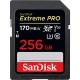 256GB SDXC Card Sandisk Extreme Pro 170/90 V30 UHS-I U3 SDSDXXY-256G-GN4IN