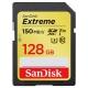128GB SDXC Sandisk Extreme Class 10 150/70 V30 UHS-I U3 SDSDXV5-128G-GNCIN